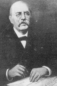 This photograph of Professor Roller is from a painting which hung in the Reception Room in Main Barracks.