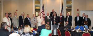 Ad Astra members gather at the 2015 Reunion to induct Ben Zinkhan.